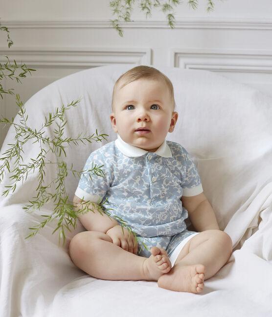 Polo estampado para bebé niño blanco Marshmallow / blanco Multico