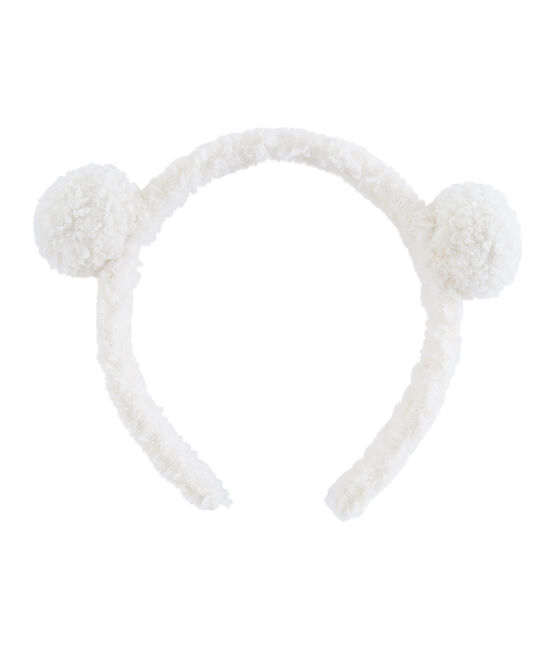 Diadema infantil para niña blanco Marshmallow