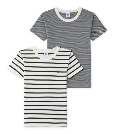 Par de camisetas manga corta para chico