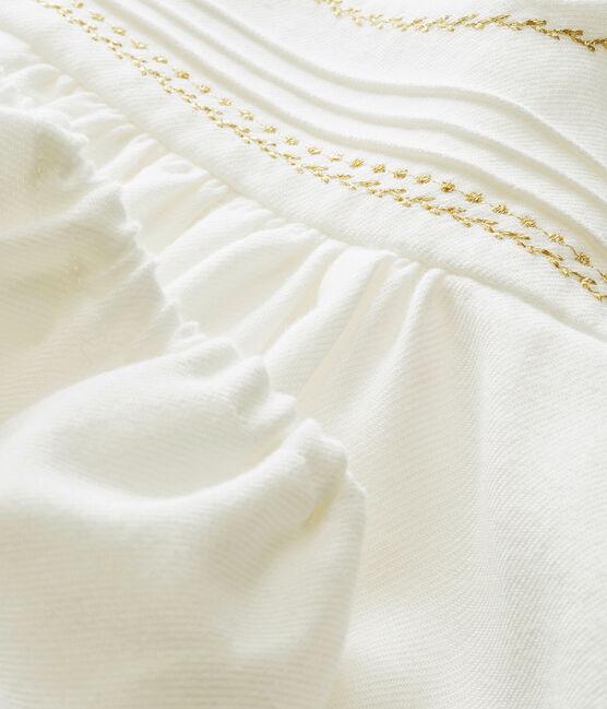Vestido y bloomer para bebé niña blanco Marshmallow