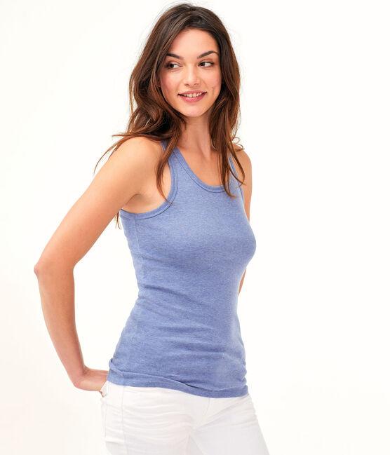 Camiseta de tirantes icónica para mujer azul Captain Chine