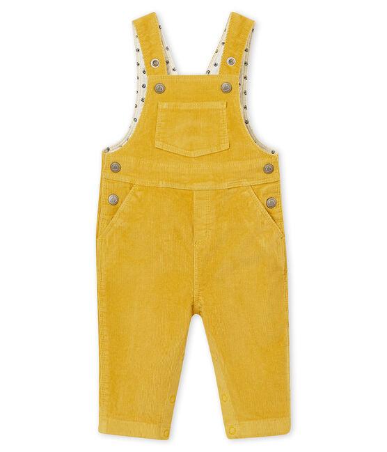 Peto de pana para bebé niño amarillo Ocre