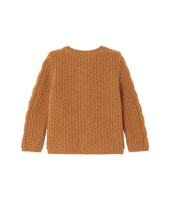 Cardigan para bebé niña en lana marrón Cuivre