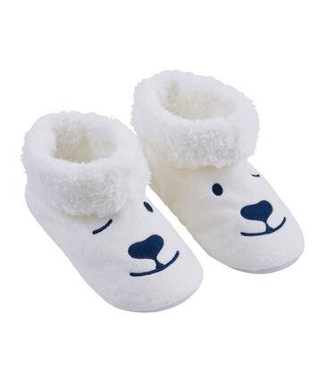 Patucos unisex de polar blanco Marshmallow