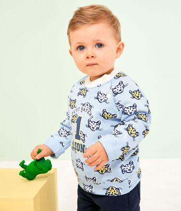 Sudadera de muletón para bebé niño azul Jasmin / blanco Multico