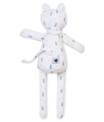 Doudou gatito en jersey estampado blanco Marshmallow / blanco Multico