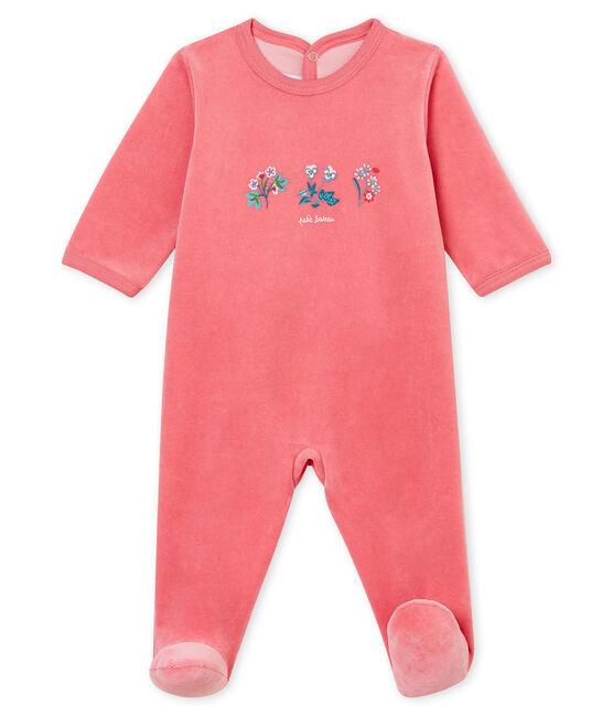 Pelele para bebé rosa Cheek