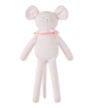 Doudou ratita con la milrayas rosa Vienne / blanco Ecume