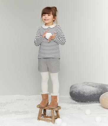 Jersey marinero de manga larga para niña blanco Marshmallow / azul Smoking