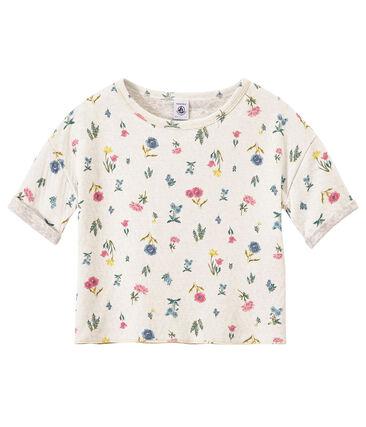 Camiseta estampada en túbico ligero para niña
