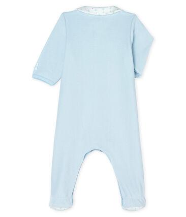 Pijama de terciopelo para bebé niño azul Fraicheur