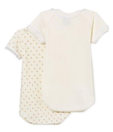 Par de bodis manga corta para bebé niña