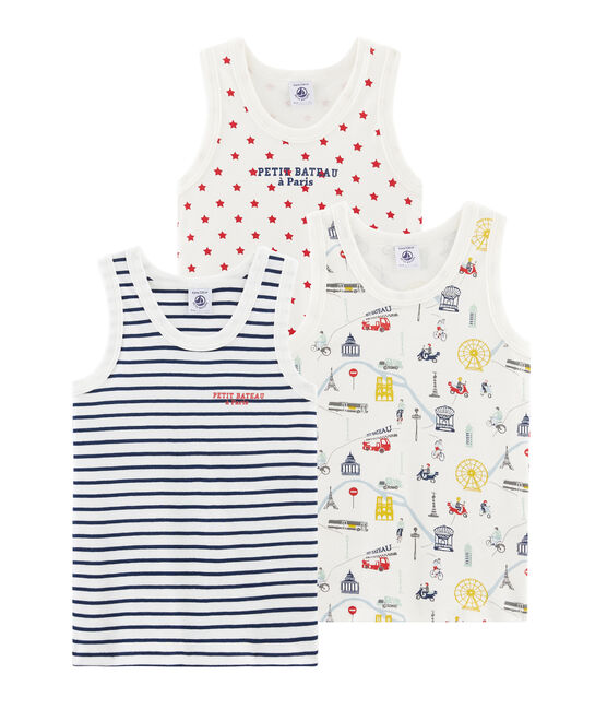 Trío de camisetas de tirantes para niño lote .