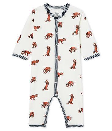 Pijama sin pies de punto para bebé niño blanco Marshmallow / blanco Multico