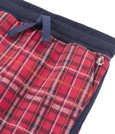 Pantalón de malla escocesa para niño rojo Terkuit / azul Smoking