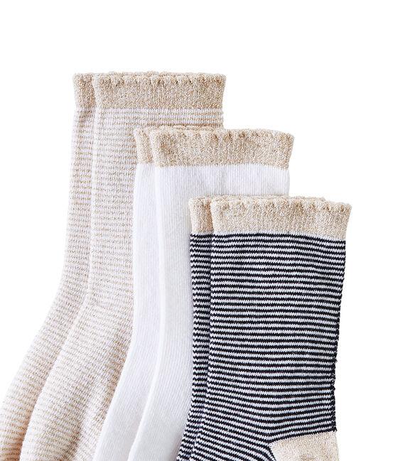 Lote de 3 pares de calcetines para niña lote .
