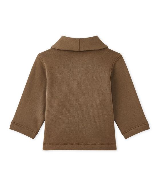 Chaqueta de muletón para bebé niño marrón Shitake