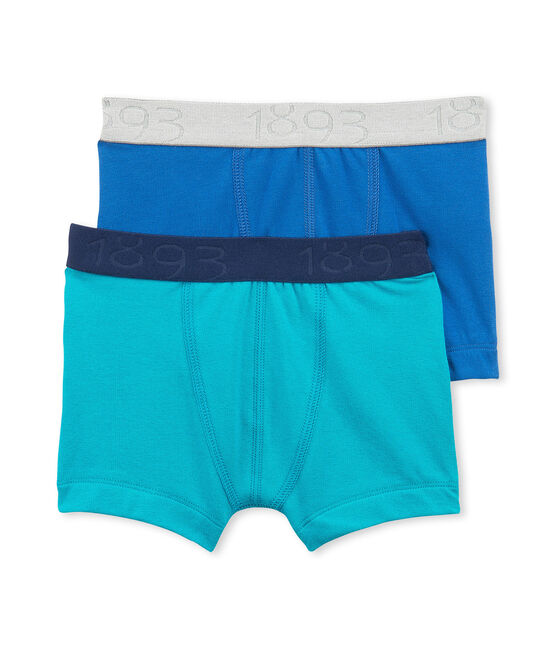 Set of 2 boy's plain stretch jersey boxers lote .