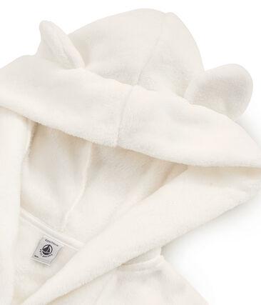 Bata de casa de polar para niño blanco Marshmallow