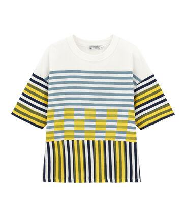 Camiseta manga corta gráfica unisex blanco Marshmallow / blanco Multico