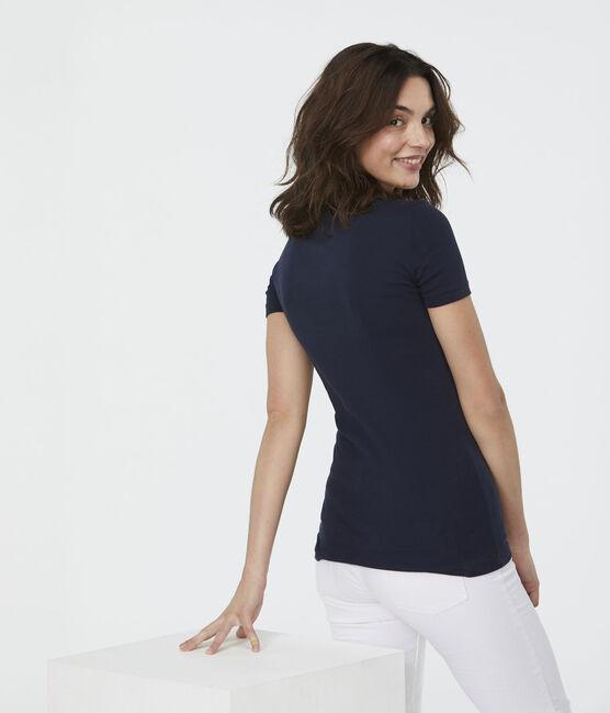 Camiseta icónica para mujer azul Smoking