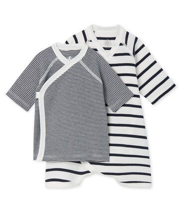 Juego de body kimono y camiseta de punto para bebé lote .