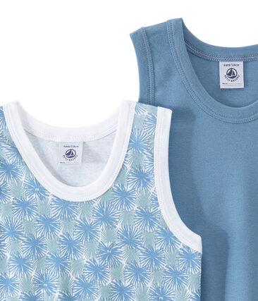 Lote de 2 camisetas sin mangas para niño
