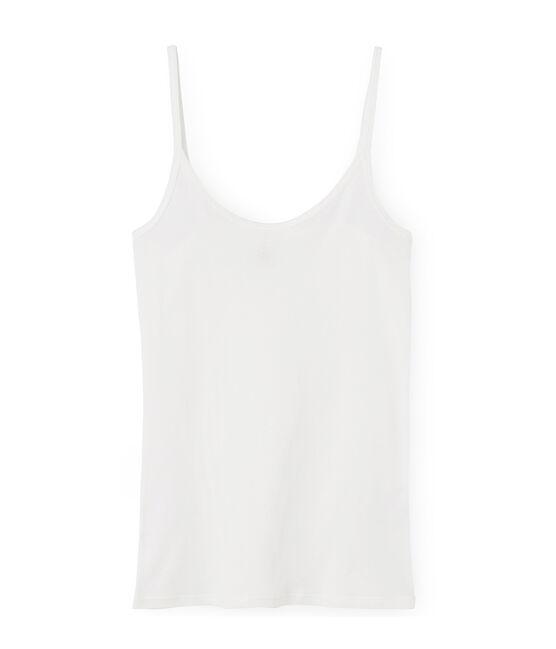 Camisa de tirantes de algodón ligero para mujer blanco Marshmallow
