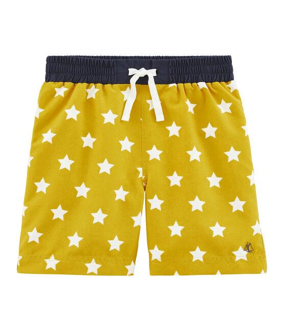 Shorts de playa infantiles para niño amarillo Bamboo / blanco Marshmallow