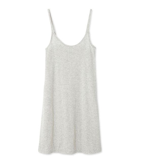 Chemise à bretelles femme en coton léger gris Beluga Chine