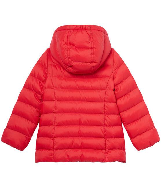 Plumón con capucha de niña rojo Froufrou