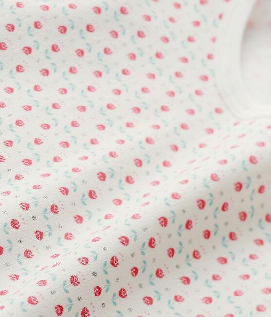 Pijama estampado para niña blanco Lait / blanco Multico