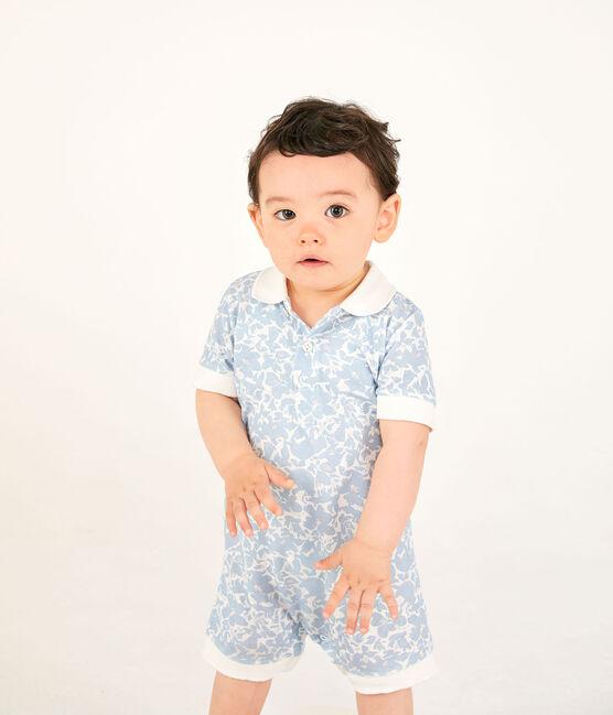 Mono corto estampado para bebé niño blanco Marshmallow / blanco Multico