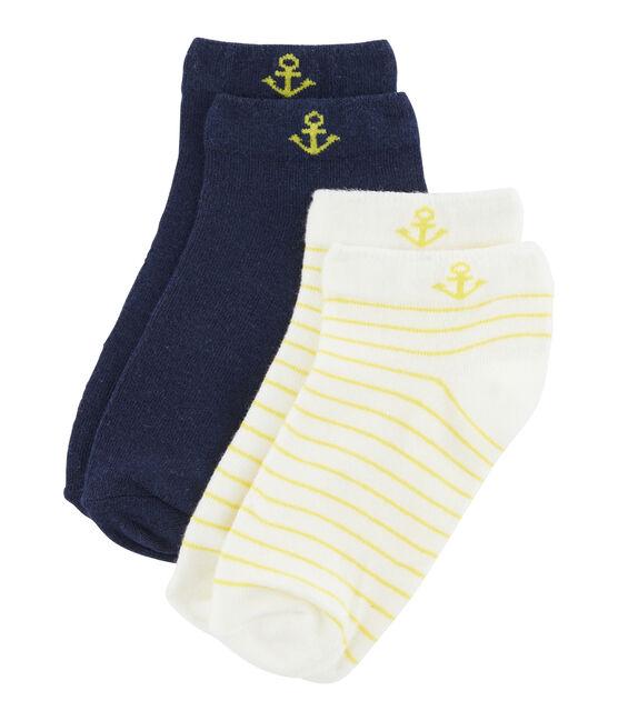 Lote de 2 pares de calcetines niño blanco Marshmallow