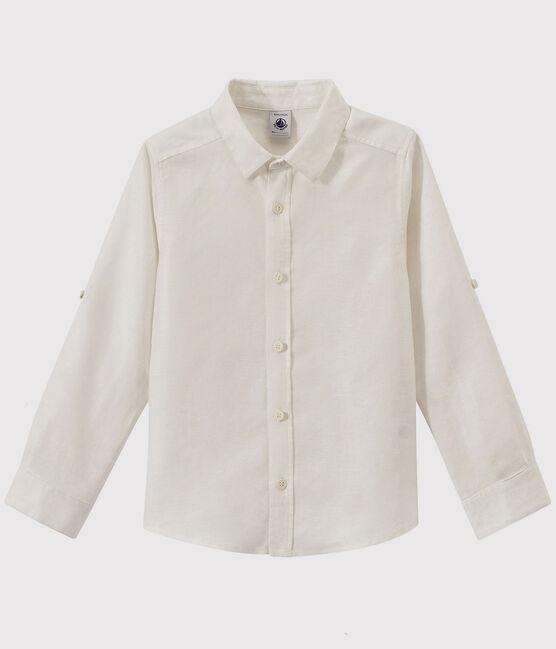 Camisa de niño blanco Ecume