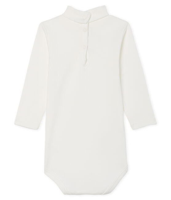 Body de manga larga y cuello redondo para bebé unisex blanco Marshmallow