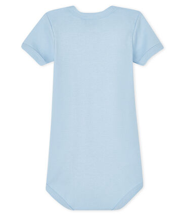 Bodi manga corta para bebé niño azul Jasmin