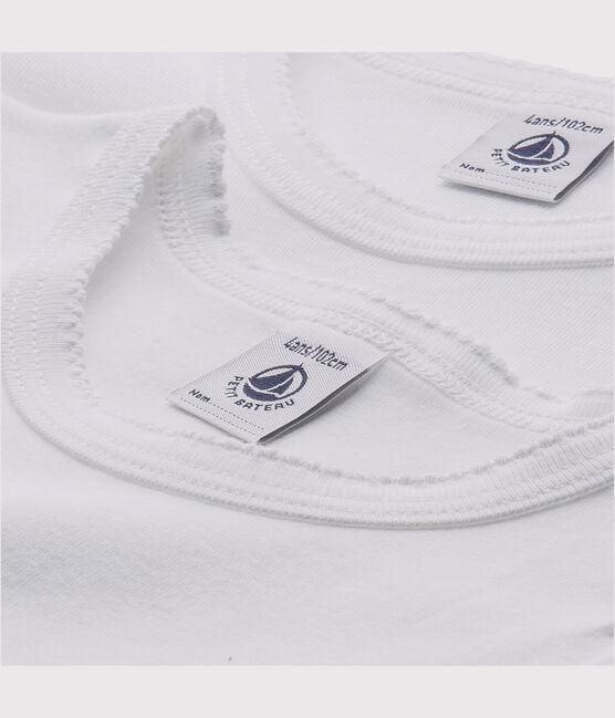 Lote de 2 camisetas blancas manga corta niña lote .