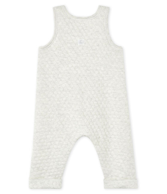 Peto en túbico acolchado para bebé niña gris Montelimar Chine