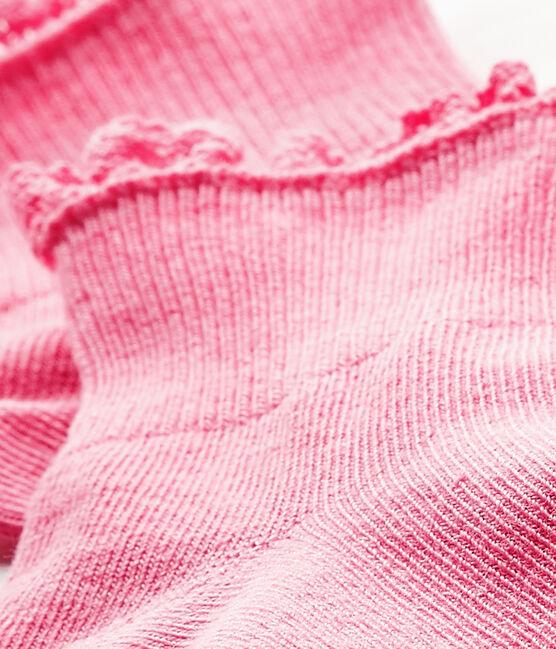 Calcetines de encaje para bebé niña rosa Petal