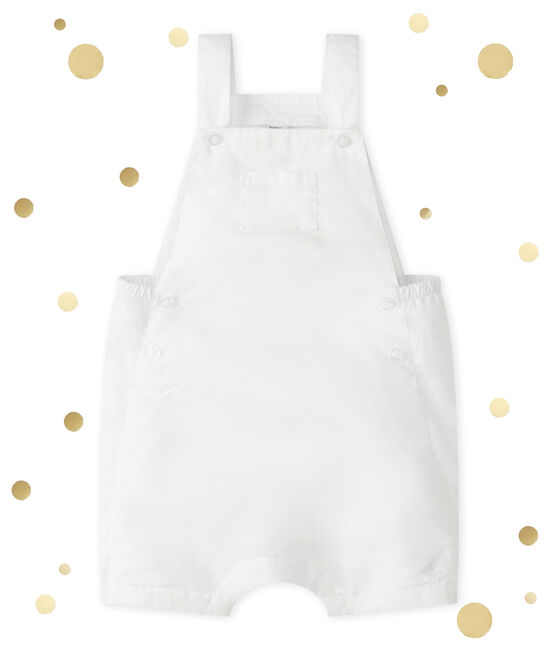 Peto corto para bebé niño blanco Ecume