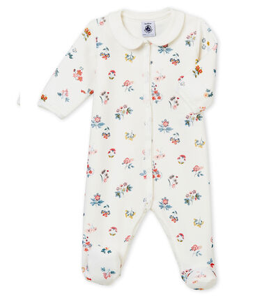 Pelele de noche para bebé niña blanco Marshmallow / blanco Multico