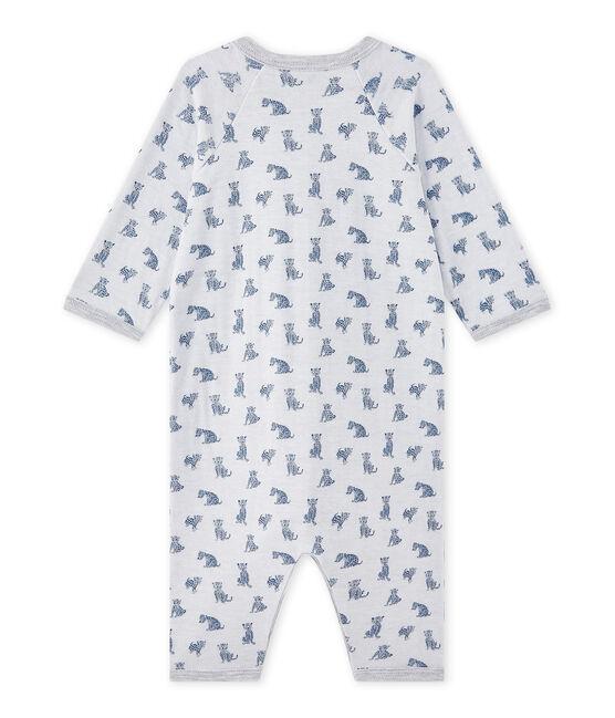 Pijama sin pies en túbico para bebé niño blanco Ecume / blanco Multico