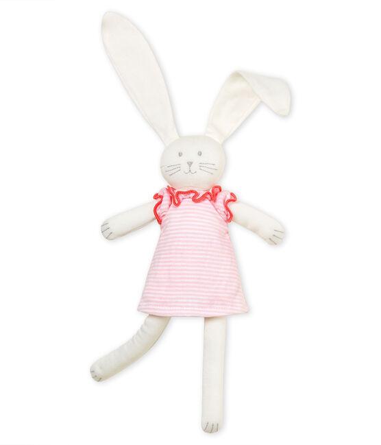 Dudú con conejito vestido rosa Vienne / blanco Marshmallow