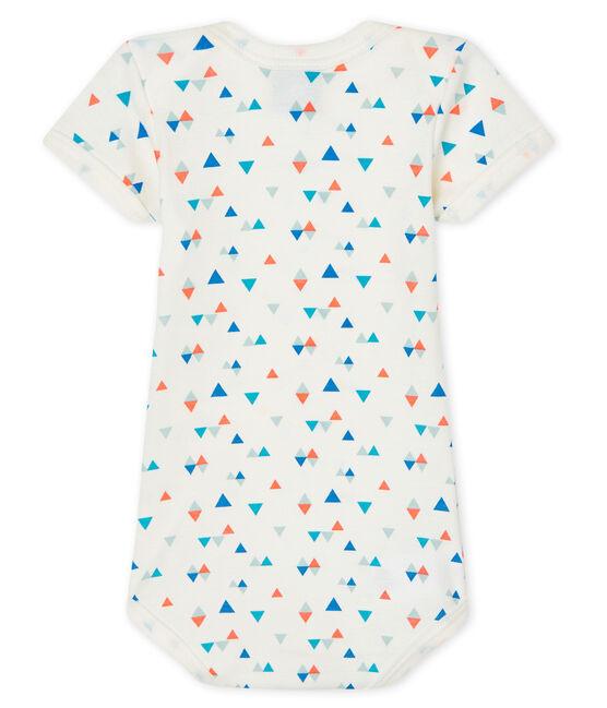 Bodi manga corta para bebé niño-niña blanco Marshmallow / blanco Multico
