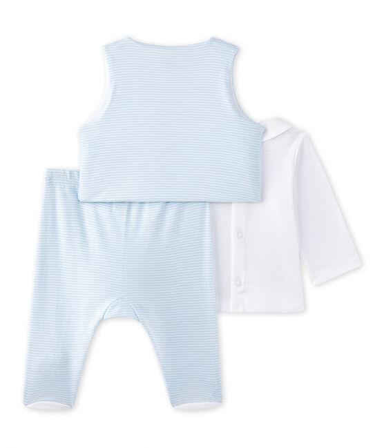 Conjunto bebé niño 3 piezas azul Fraicheur / blanco Ecume