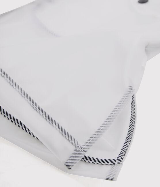 Impermeable largo transparente unisex blanco Translucide