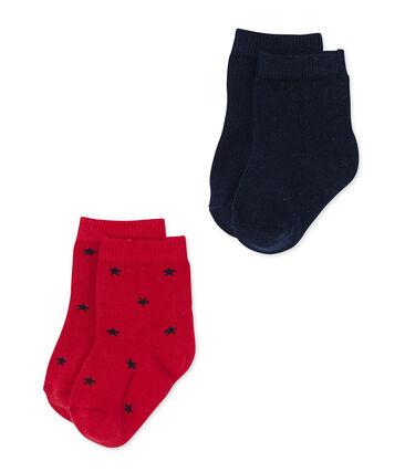 Lote de calcetines bebé niño lisos+ estrellas lote .