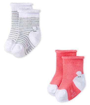Lote de 2 pares de calcetines unisex para bebé
