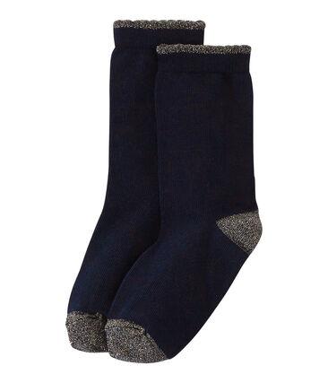 Calcetines para niña azul Smoking